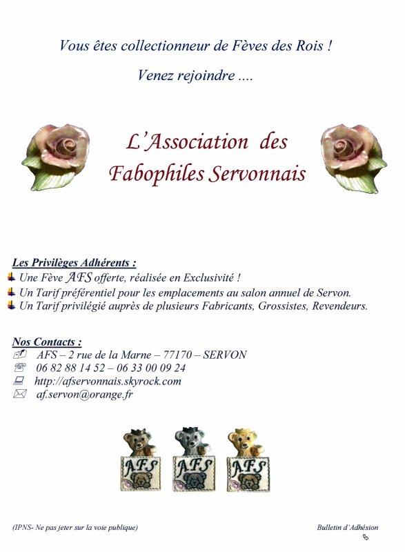 Bulletin d'adhésion AFS 2018/2019