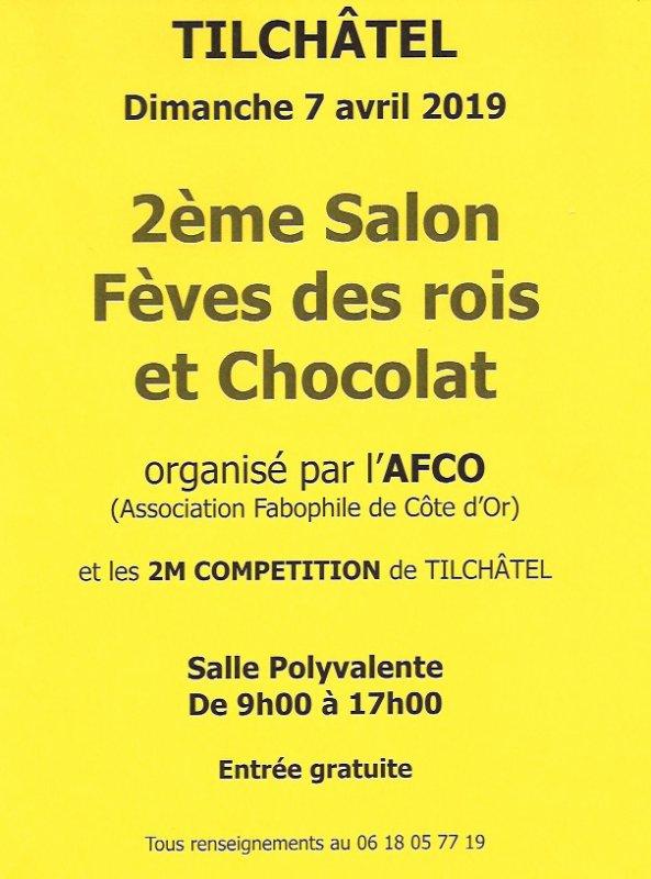 L'AFS sera Exposant au Salon Fèves des Rois & Chocolat de TILCHÂTEL le Dimanche 7 Avril 2019
