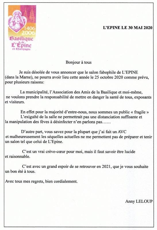 La Bourse de l'Epine, 2020......ANNULEE