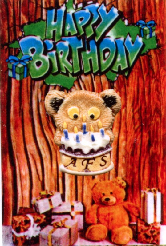 "Le ""Birthday Bear"" de l'AFS....."