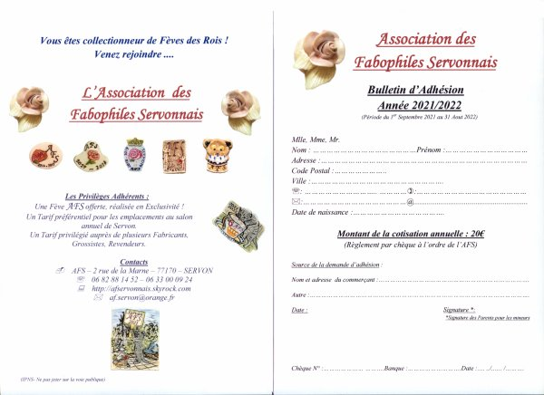 Bulletin d'Adhésion AFS 2021/2022