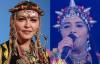 Fatima Tabaamrant, la vraie Berber queen, dans la tenue que Madonna a voulu parodier.