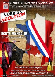 Manifestation anti-corrida