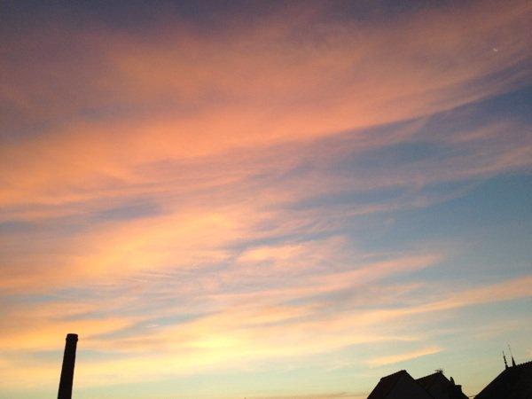 le ciel de Lacroix ce matin à 6h