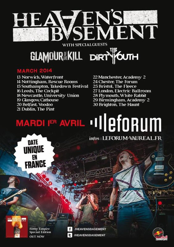 Live Report The Dirty Youth + Glamour of the Kill + Heaven's Basement 1/04/2014 Vauréal (95)