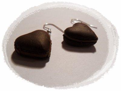 Boucles Macarons en coeur