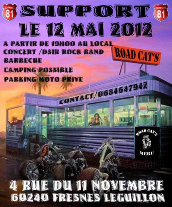 Soirée support Road Cat's ...