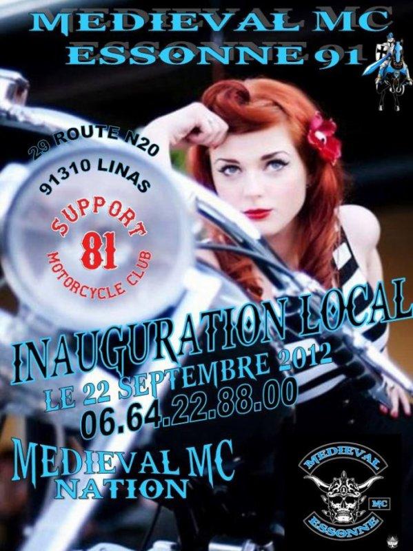 Inauguration local Medieval MC Essonne ...