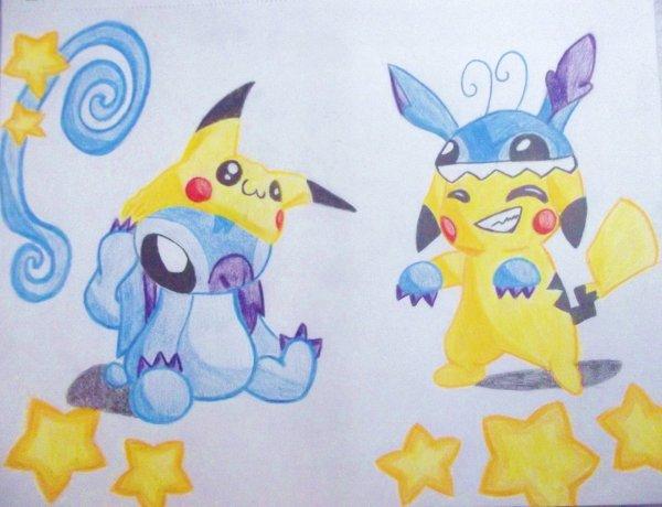 ~~ stitch et pikachu ..... *3*