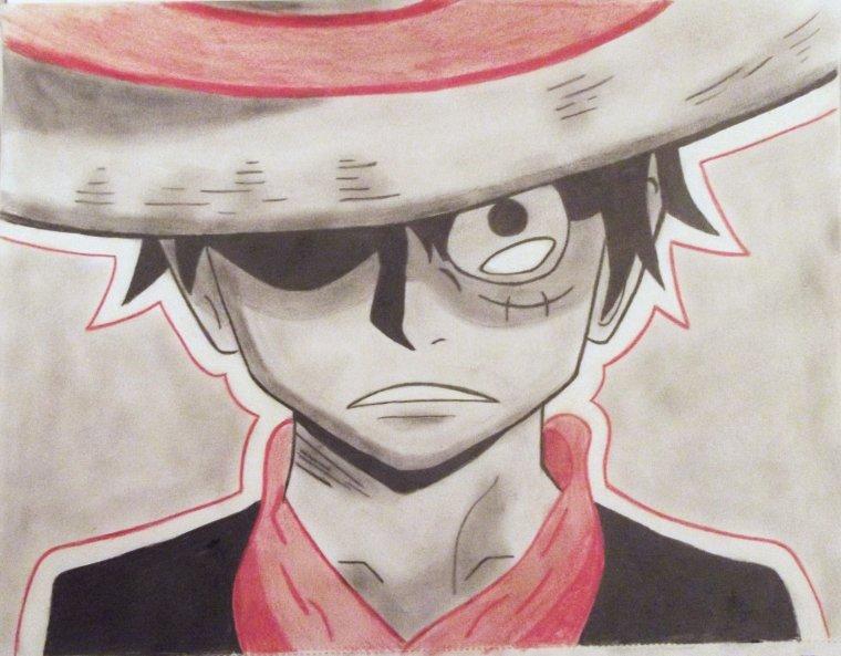 dessin Luffy One piece  ~~ <3