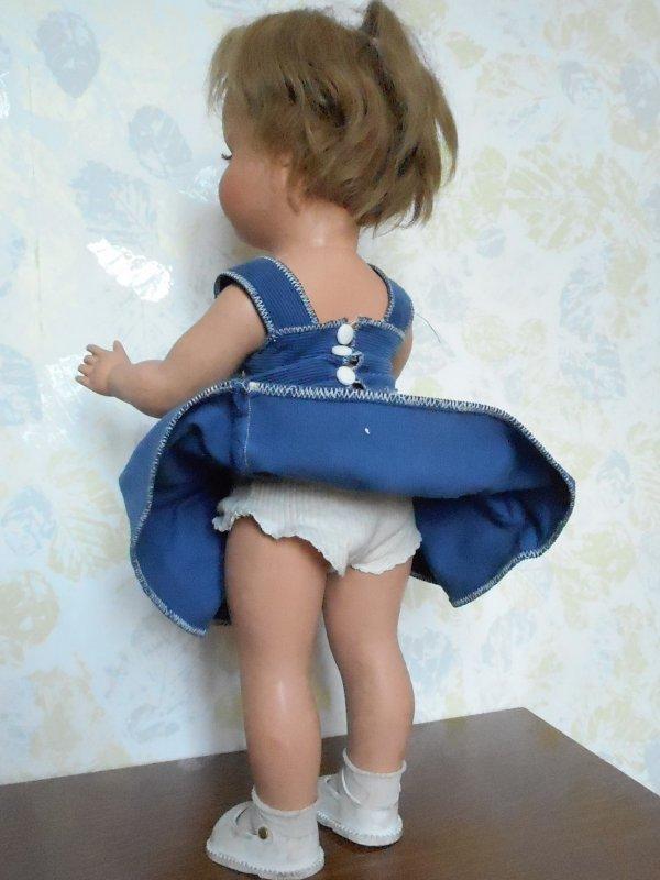 Poupée Gégé, qui est-elle? Petite fille de France? Elle mesure 50 cm.