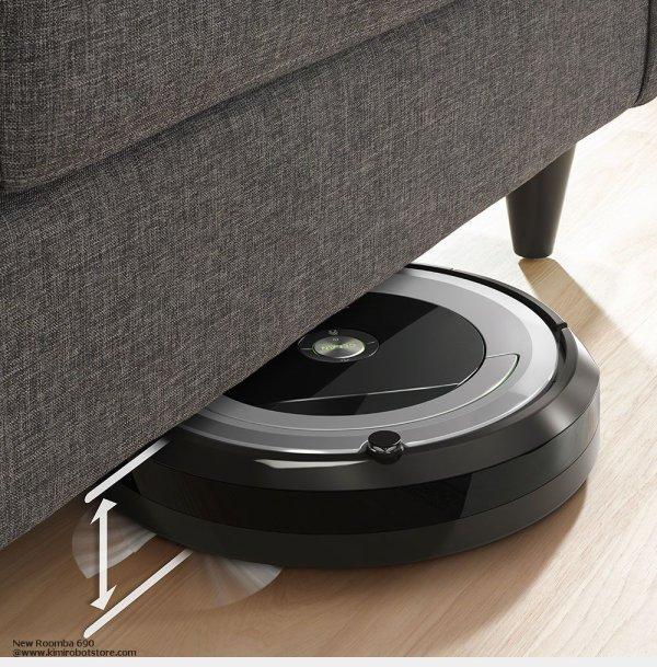 Most Efficient iRobot Roomba 690 Larut, Matang dan Selama