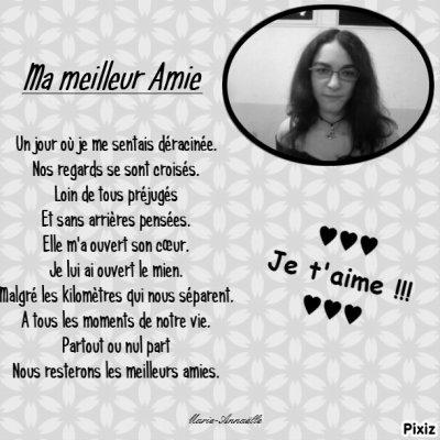 ♥♥♥ Poème dédicacé à ma Bestà !!!!!! ♥♥♥