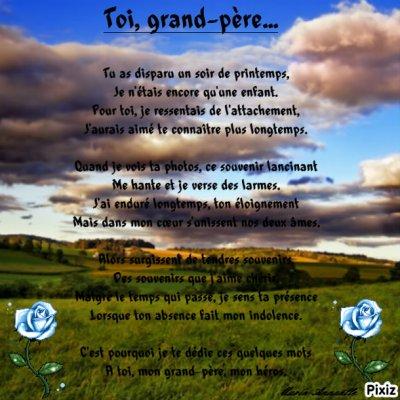 Poème en hommage a mon arrière grand-père !!! ♥♥♥