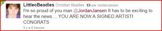 Jordan a signé son premier contrat !!!
