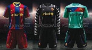 Les Maillots du FC Barcelona