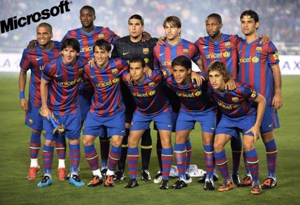L'équipe du FC Barcelona