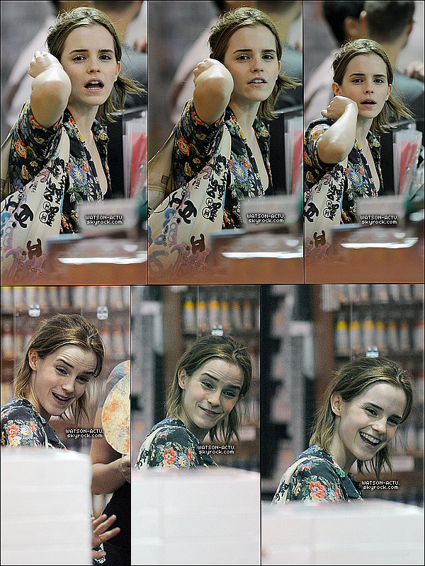 . » Emma fait ses courses à New York City ! «  ♥ Crédit des sources utilisées: EmmaWatsonFrance.net ♥ .