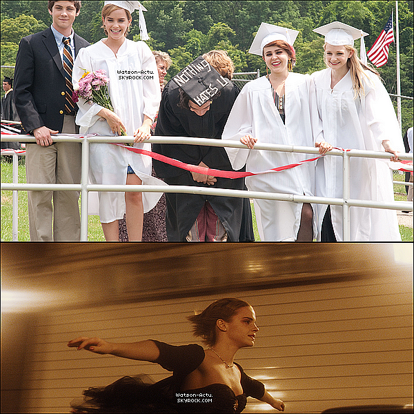 . » Nouvelles photos de Harry Potter et de The Perks Of Being A Wallflower. «  ♥ Crédit des sources utilisées: EmmaWatsonFan.net ♥ .