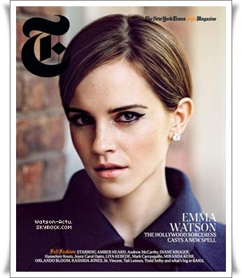 . » Interviews + Photo du compte tweeter d'Emma. «  ♥ Crédit des sources utilisées: EmmaWatsonFrance.net ♥ .