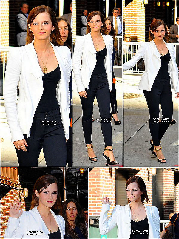 . » Emma à l'émission de David Letterman ( New-York). «  ♥ Crédit des sources utilisées: EmmaWatsonFrance.net ♥ .