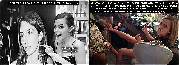 . »  Nouvelles photos d'Emma à CANNES + Interviews & vidéos «  ♥ Crédit sources utilisées: EmmaWatsonFrance.net & EmmaWatsonFan.net ♥ .