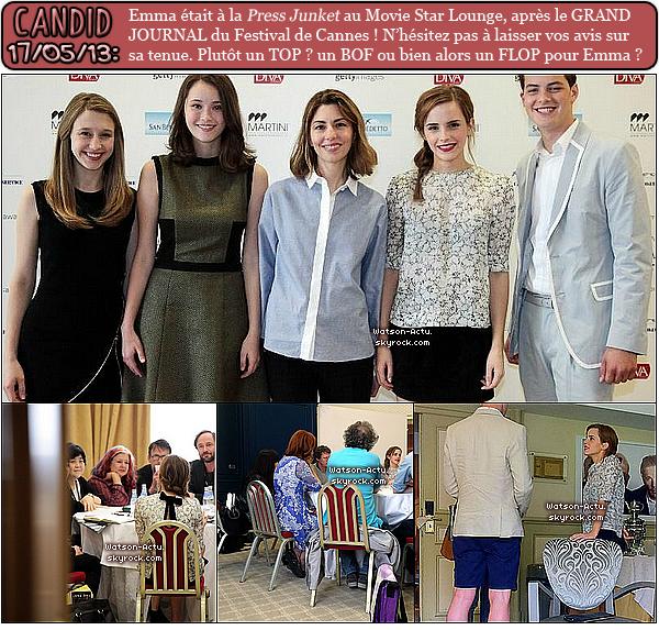 . »  Vidéo reportage + 3 Candids d'Emma + News en vrac.  «  ♥ Crédit sources utilisées: EmmaWatsonFrance.net & EmmaWatsonFan.net ♥ .