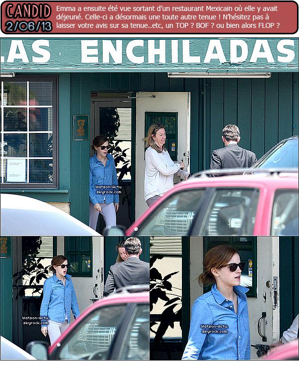 . »  Candids + Premières de film This Is The End & The Bling Ring à LA. «  ♥ Crédit sources utilisées: EmmaWatsonFrance.net ♥ .