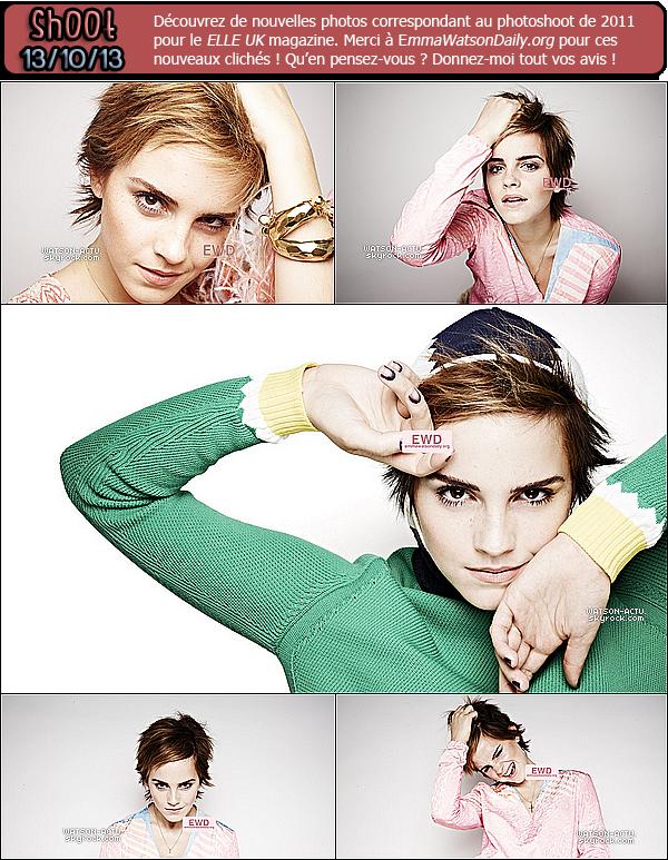 . » Nouveaux Clichés Photoshoot Elle Magazine + Photo + Candid ! « ♥ Crédit sources utilisées: EmmaWatsonFan.net & EmmaWatsonDaily.org ♥ .