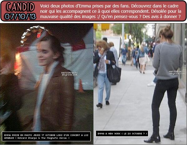 . » Nouveaux et Nombreux Candids d'Emma + Info: Emma, de retour à Londres !!! « ♥ Crédit sources utilisées: EmmaWatsonFan.net & EmmaWatsonDaily.org ♥ .