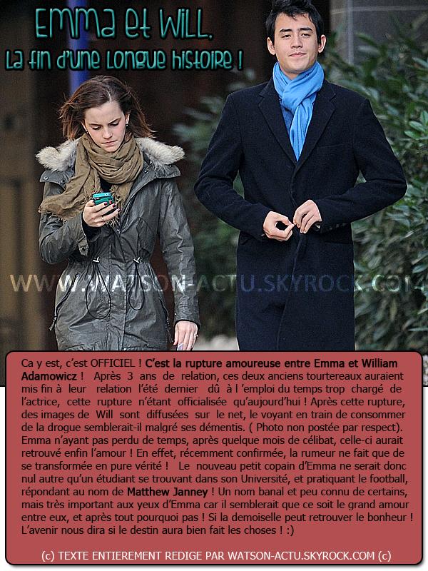 . » EMMA DE NOUVEAU EN COUPLE ! + Rattrapage de News !!!!! « ♥ Crédit sources utilisées: EmmaWatsonFan.net & EmmaWatsonFrance.net ♥ .
