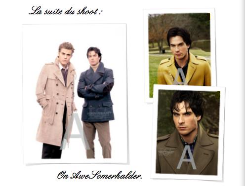 Les outtakes du photoshoot d'Automne de Ian et son partenaire Paul.