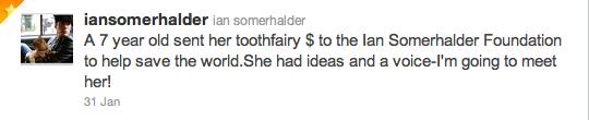 Interview de Ian Somerhalder ( Damon Salvatore) de la série The Vampire Diaries pour The TV Line, 03 FEVRIER 2011