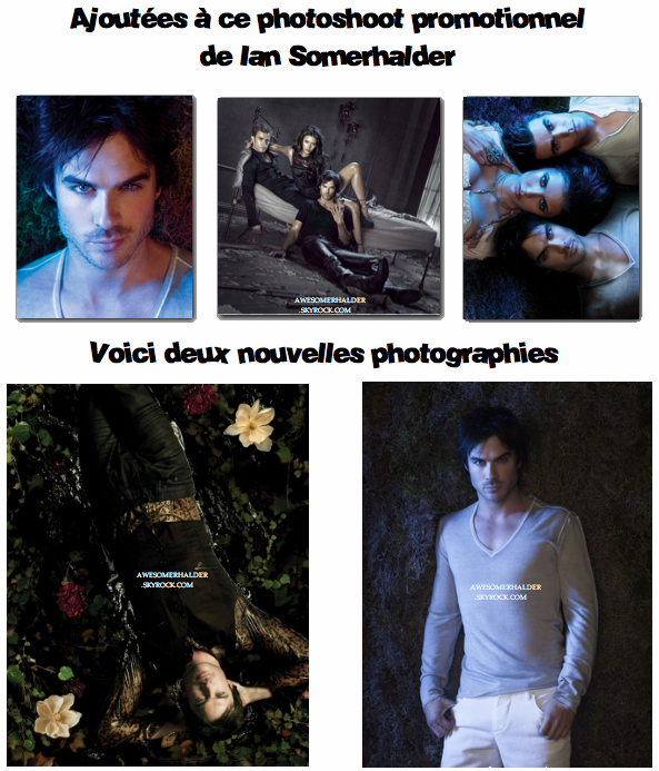 Photoshoot Promotionnel de Ian Somerhalder. 24 Avril.