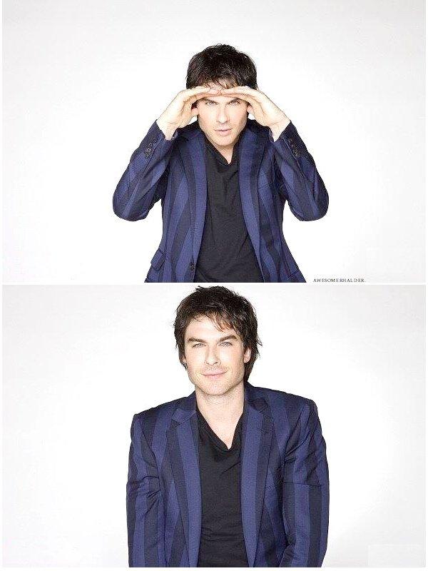P H O T O S H O O T | Ian posant pour le shoot du magazine TV Guide lors du Comic Con. Il est trop craquant !!