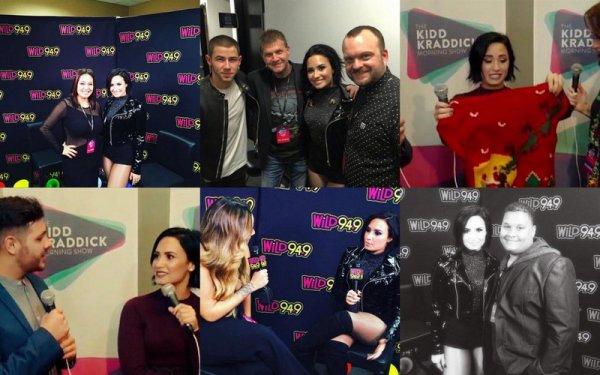 3 Decembre : Demi Lovato sur le tapis rouge des WILD 94.9's FM's Jingle Ball à Oakland