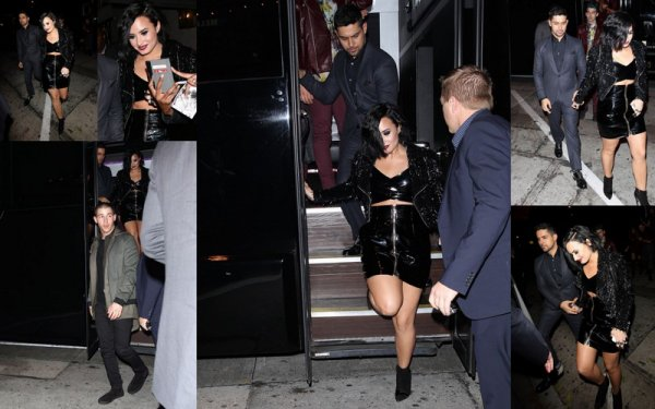 22 Novembre : Demi Lovato et son cheri à l'after party de Jennifer Lopez :