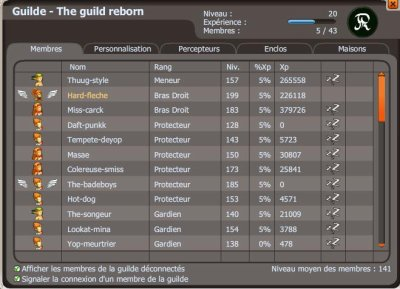 Une nouvelle guilde ?