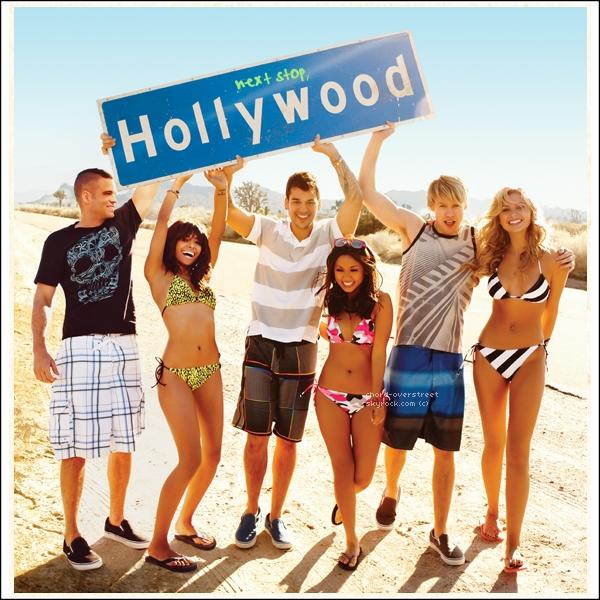 ♔ PHOTOSHOOT. Chord, Mark (co-star de glee), Aly Michalka (Hellcats), Katherina Graham, (TVD), Brenda Song et Rob Kardashian posent pour Océan Pacific en début 2011. J'aime beaucoup de shoot, l'un de mes préférés.