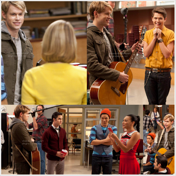 ". ●.. Quelques photos Behind the scene de l'épisode 3x08 : ""Hold On To Sixteen"" !  ."