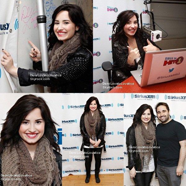12.04.2013 || Demi à la radio 92.3 NOW à N.Y