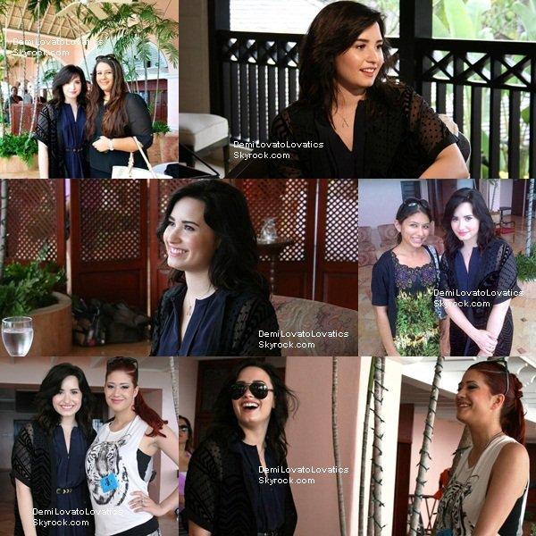 14.04.2013  || Demi avec des fans à la Barbade devant son hôtel
