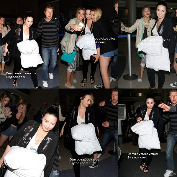 18.04.2013 || Demi arrivant à l'aéroport de Los Angeles