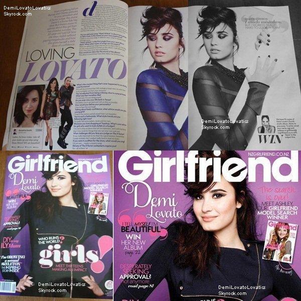 Demi en couverture du magazine Girlfriend pour la Nouvelle-Zélande