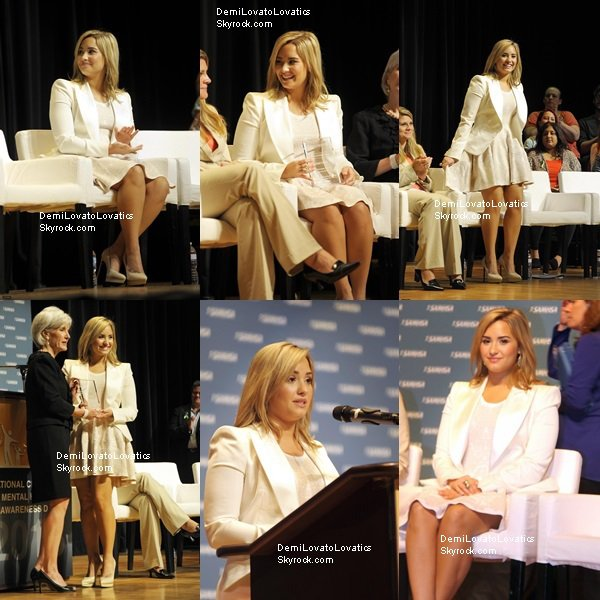 07/05/2013 Demi au SAMHSA's National Children's Mental Health Awareness Day, Washington