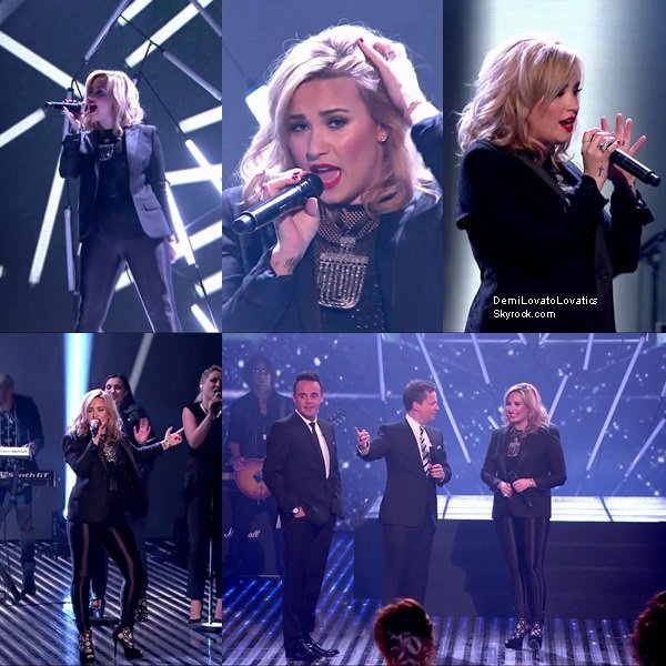 30/05/2013 :  Demi à chanter Heart Attack sur le plateau de Britain's Got Talent Top/Flop ?