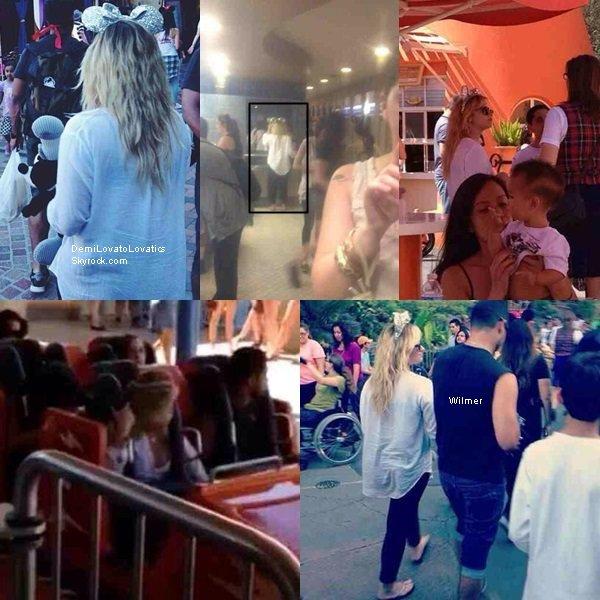25/08/2013 : Demi à Disneyland en Californie avec Wilmer Valderrama Top/Flop ?