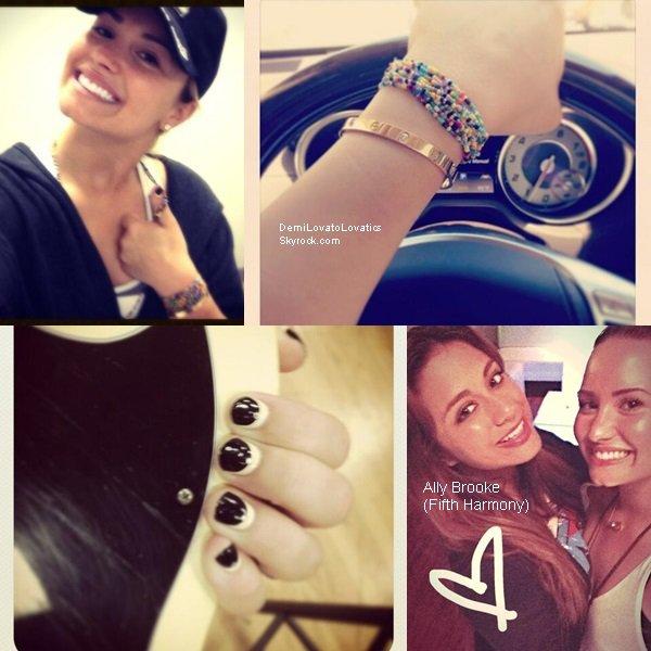 Photos postés sur Twitter par Demi, lors du tournage de Glee Top/Flop ?