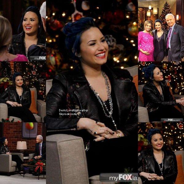 02/12/2013 Demi à l'émission Good Day L.A Top/Flop ?