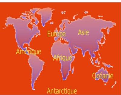 L'origine du nom des continents.